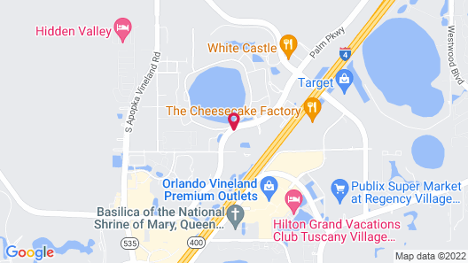 TownePlace Suites by Marriott Orlando Theme Parks/Lake Buena Vista Map