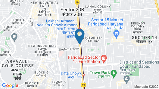Ginger Faridabad Map