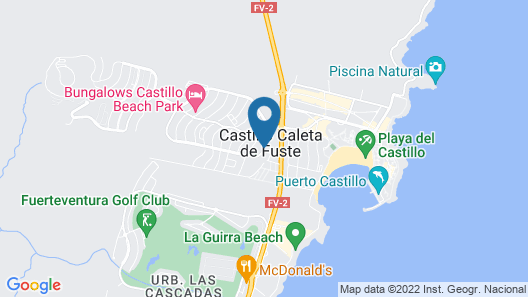 Casthotels Fuertesol Bungalows Map