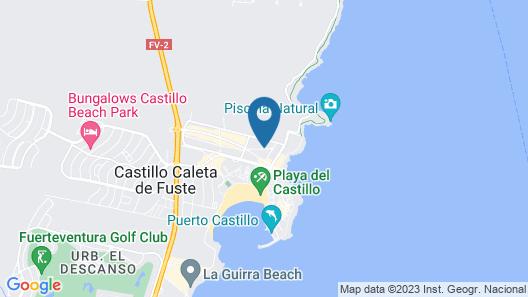 Chatur Hotel Costa Caleta Map