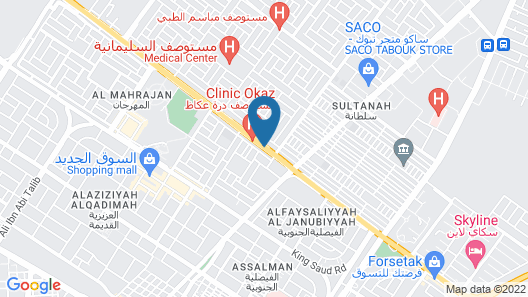 OYO 404 Rwnza Hotel Apartments Map