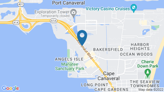 Homewood Suites by Hilton Cape Canaveral-Cocoa Beach Map