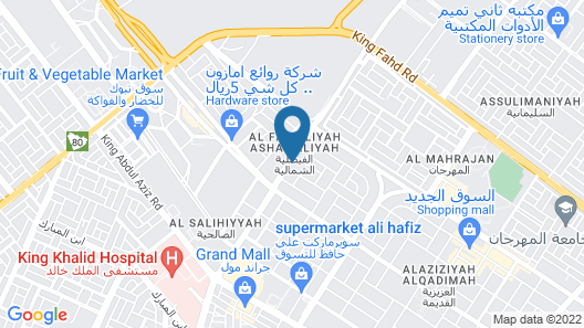 Al Eairy Furnished Apartments Tabuk 6 Map