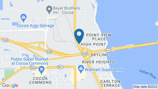 Americas Best Value Inn Cocoa Port Canaveral Map
