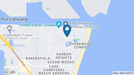 Cape canaveral beach resort Map