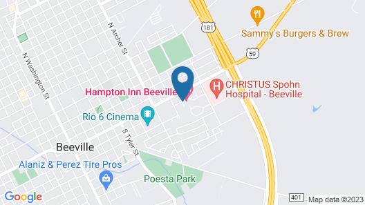 Hampton Inn Beeville Map