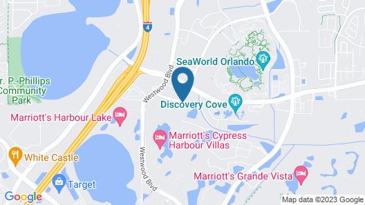 Hilton Grand Vacations at SeaWorld Map