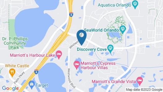 Hampton Inn & Suites Orlando At SeaWorld Map