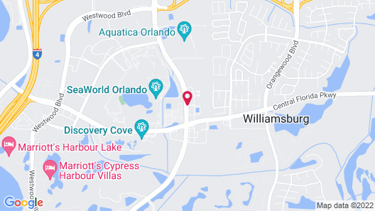 TownePlace Suites by Marriott Orlando at SeaWorld Map