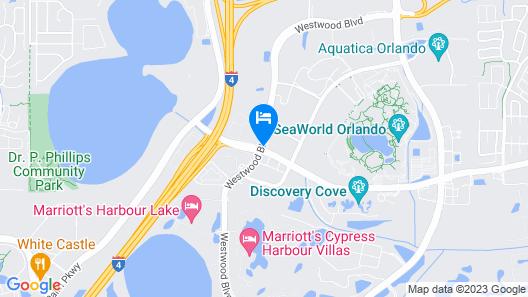 Homewood Suites by Hilton-Orlando Theme Parks, FL Map
