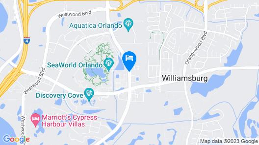 Holiday Inn Express & Suites Orlando at SeaWorld, an IHG Hotel Map