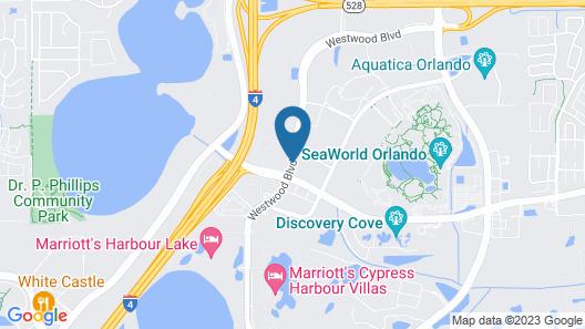 Hilton Garden Inn Orlando at SeaWorld Map