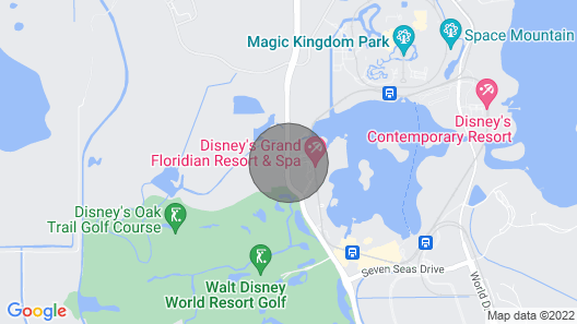 A 1 Bedroom time-share unit Grand Floridian Resort at Disney World.   Map