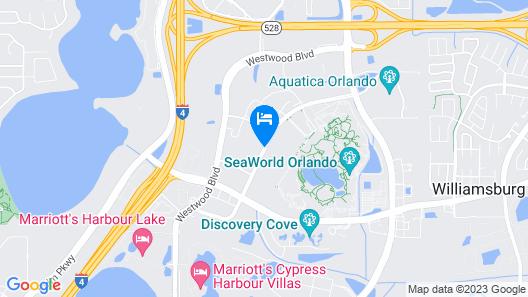 Renaissance Orlando at SeaWorld Map