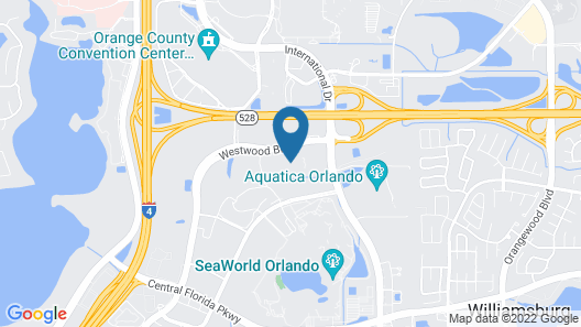 DoubleTree by Hilton Hotel Orlando at SeaWorld Map