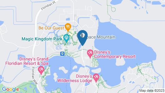 Bay Lake Tower at Disney's Contemporary Resort Map