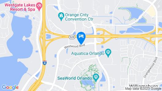 Best Western Orlando Theme Parks Map