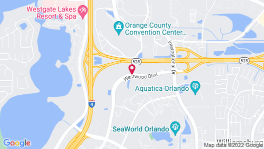 Extended Stay America-Orlando-Convention Ctr-Sports Complex Map