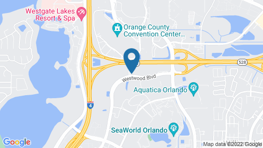 Extended Stay America Suites Orlando Conv Ctr Sports Complex Map