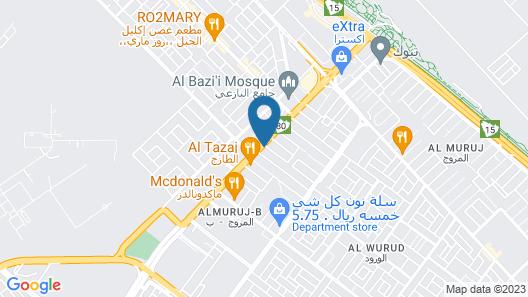 Al Eairy Furnished Apartments Tabuk 2 Map