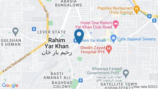 Hotel One Rahim Yar Khan Club Road Map