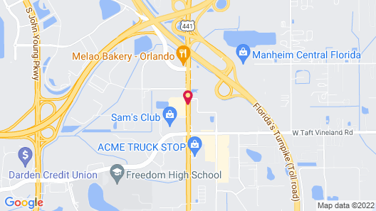 Howard Johnson by Wyndham Airport Florida Mall Map