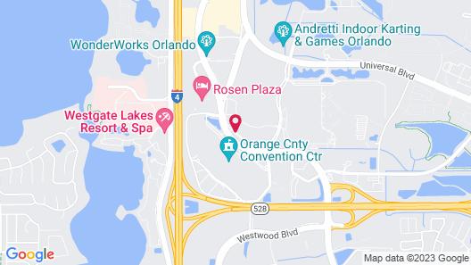 Hyatt Regency Orlando Map