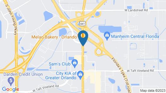Days Inn by Wyndham Orlando Airport Florida Mall Map