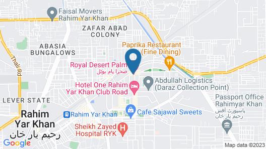 Desert Palm Hotel Map