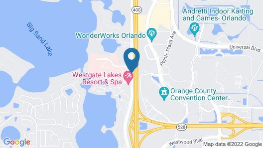 Westgate Lakes Resort & Spa Universal Studios Area Map