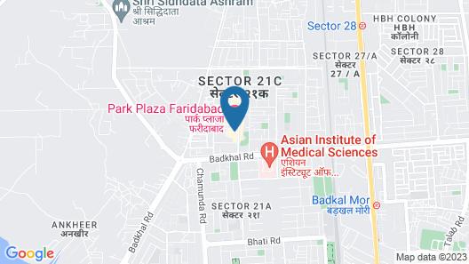 Park Plaza Faridabad Map