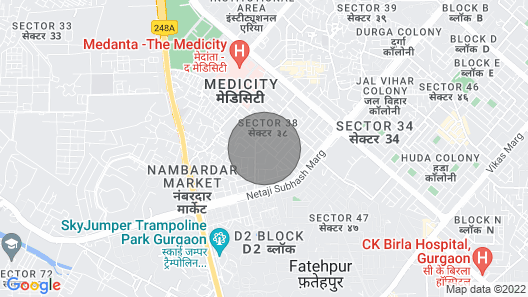2 BHK Entire Floor for Stay/ Parties Map
