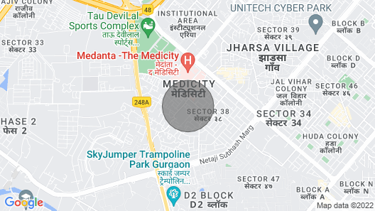 Moon 1.5bhk Medanta Sector 38 Gurugram Map