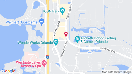 Hampton Inn Orlando International Drive/Conv Ctr Map