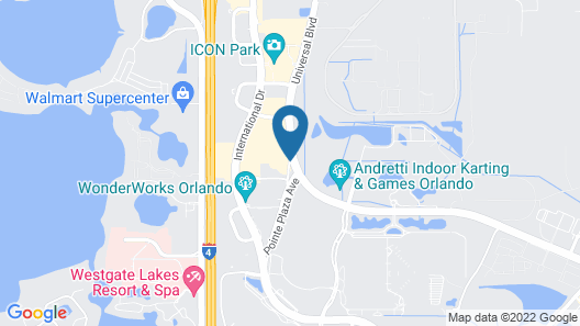 Hampton Inn Orlando International Drive/Conv Ctr Map