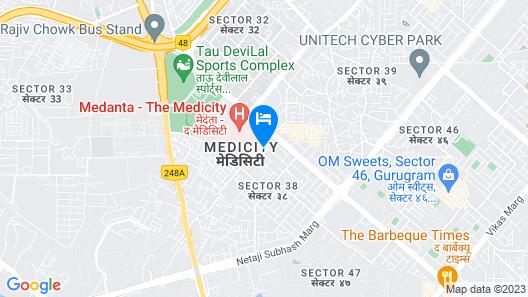 OYO 14545 Paamir Residency Map