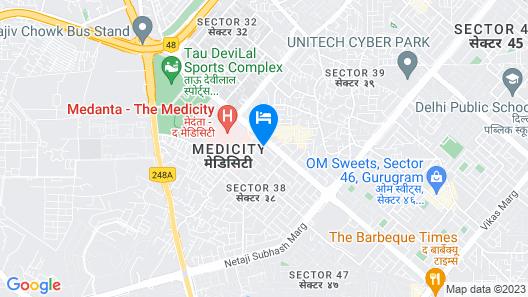 Siesta Medanta Medicity Map