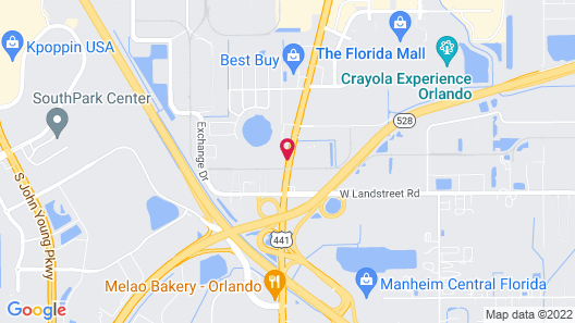 Econo Lodge Inn and Suites Near Florida Mall Map