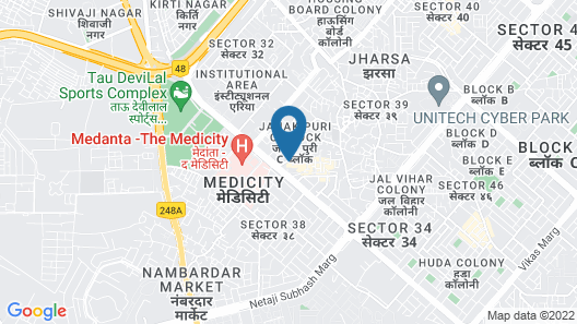 OYO 14279 BED INN Map