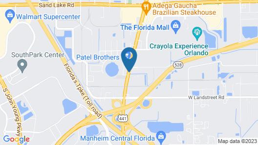 Ramada by Wyndham Orlando Florida Mall Map