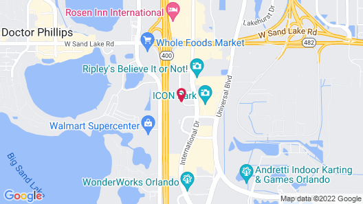 Clarion Inn International Drive Map