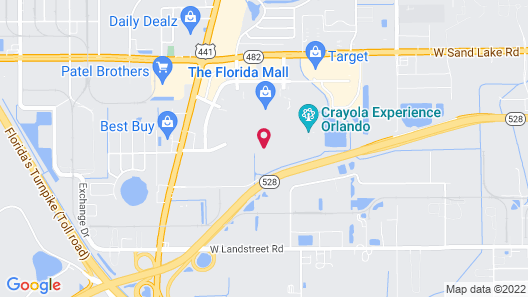 Florida Hotel & Conference Center in the Florida Mall Map