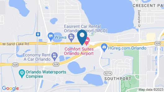 Comfort Suites Orlando Airport Map