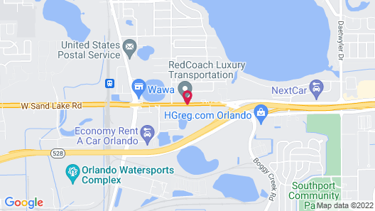Sleep Inn & Suites Orlando International Airport Map