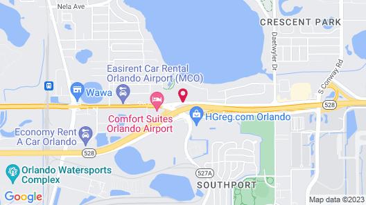 Quality Inn & Suites Orlando Airport Map