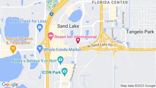 Crowne Plaza Orlando Universal, an IHG Hotel Map