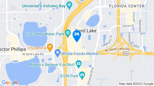 Rosen Inn International Map
