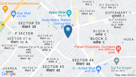 Taj City Centre Gurugram Map