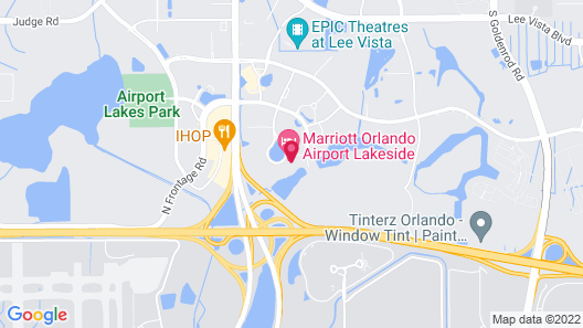 Marriott Orlando Airport Lakeside Map