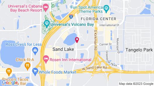 Best Western Orlando Gateway Hotel Map